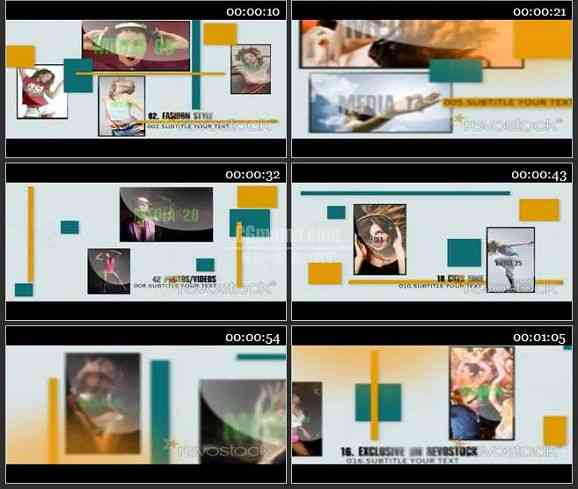 AE1703 时尚相片企业推广模板