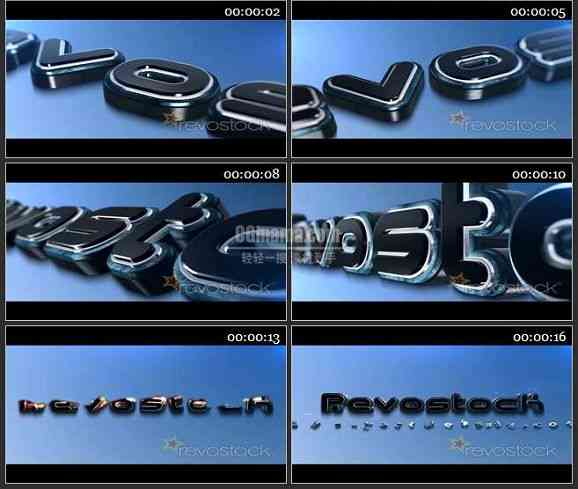 AE1704 三维动画标志LOGO演泽模板