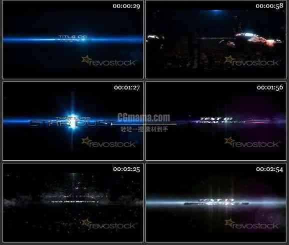 AE1721- 银河梦电影预告模板 图文展示