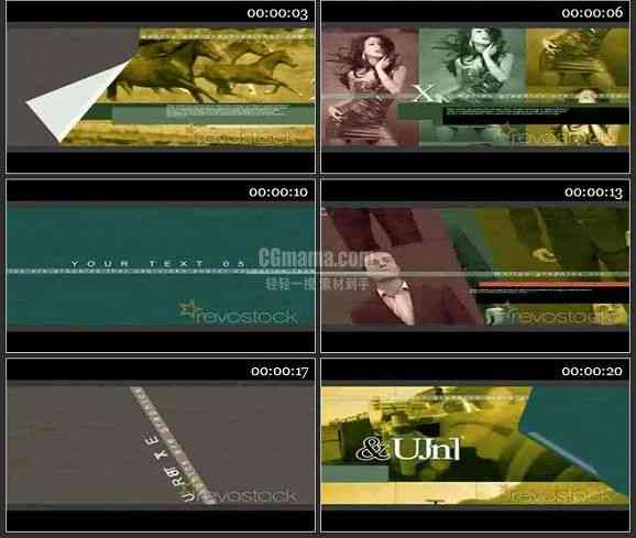 AE1744- 电视栏目包装节目介绍
