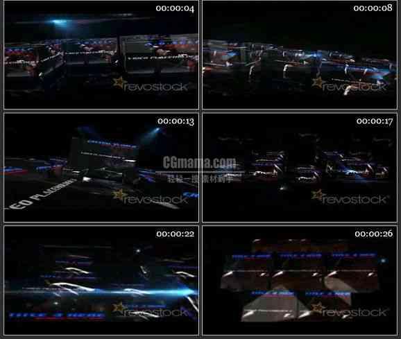 AE1759-水晶世界体育栏目包装视频展示