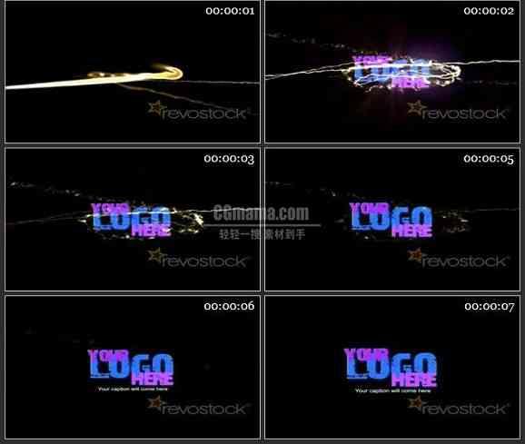 AE1763-光线会聚LOGO标志展示