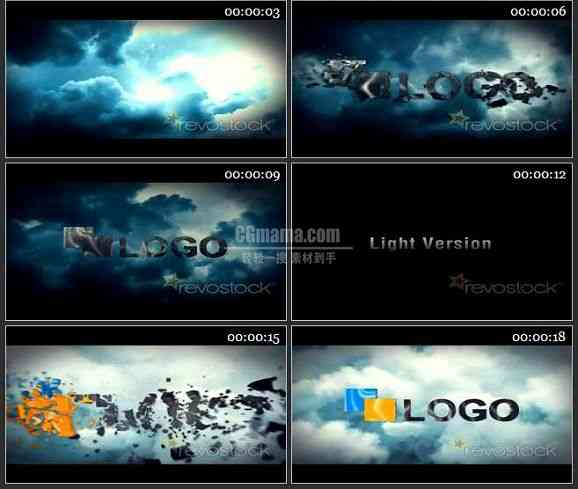 AE1775-云上LOGO标志展示