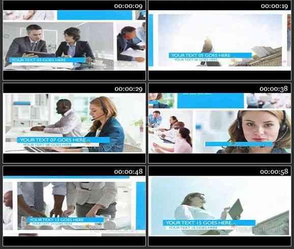 AE1779-商务类视频图文展示