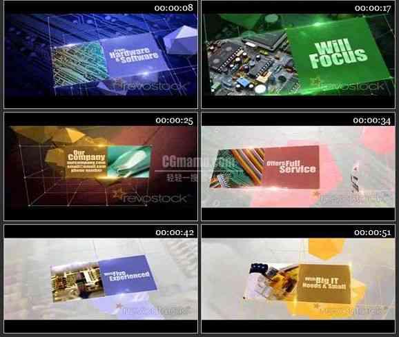 AE1781-企业宣传片图文展示