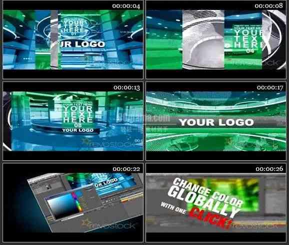 AE1800-电视新闻栏目包装文本展示