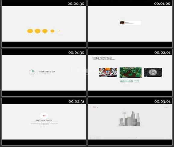 AE1817-商务类公司介绍宣传图表动画展示