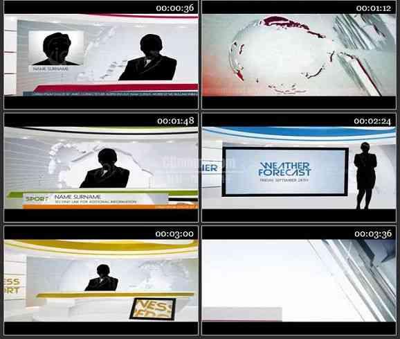AE1831-电视新闻栏目整体包装