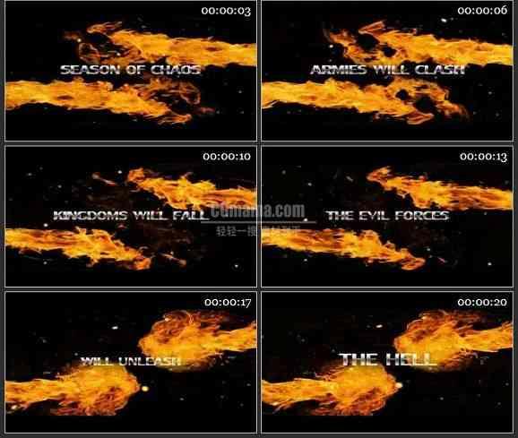 AE1844-火焰背景文字展示
