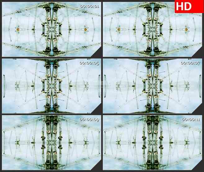 BG0873-建筑房地产吊车起重机高清led大屏视频合成背景素材
