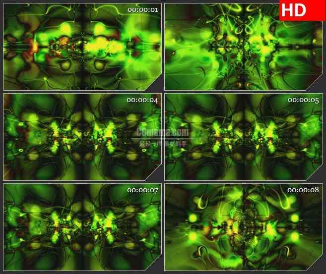BG0880-绿色动感线条科幻高清led大屏视频背景素材