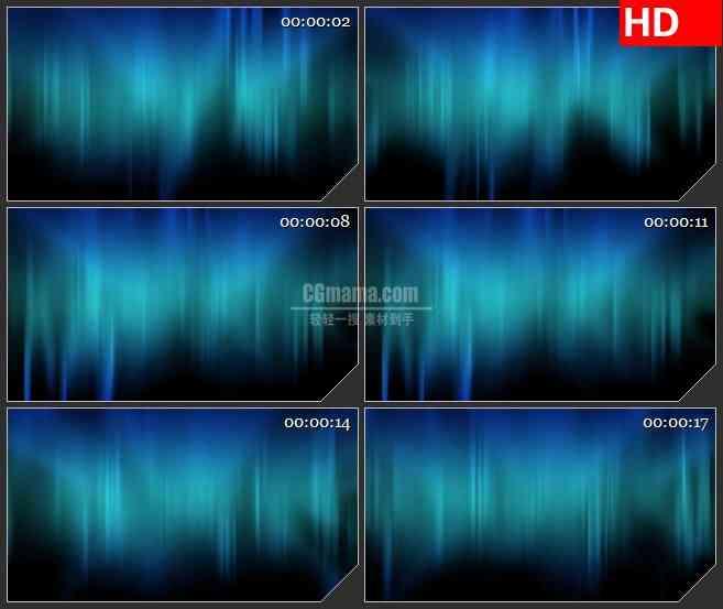 BG0899-灿烂的北极光高清大屏led视频背景素材