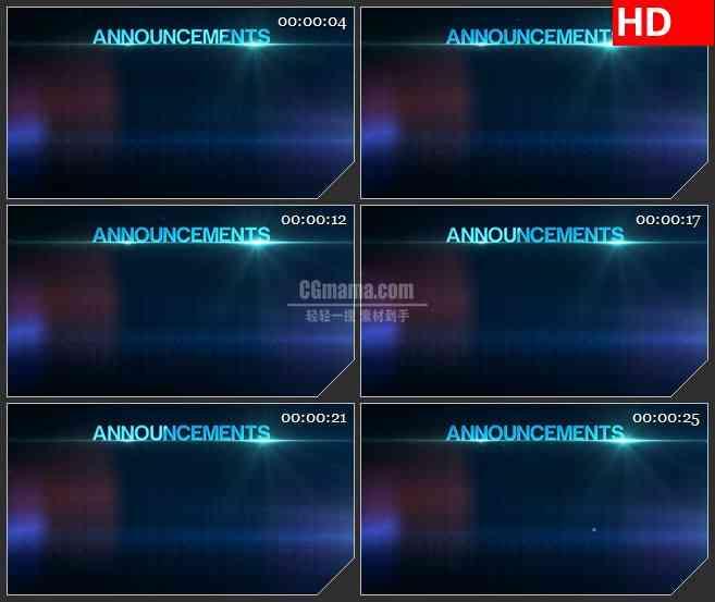 BG0902-蓝色字体科技感公告板写字板高清led大屏背景素材