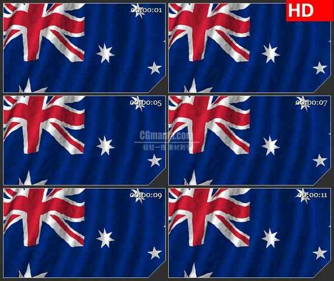 BG0904-澳大利亚国旗高清led大屏视频背景素材