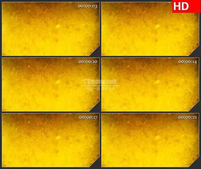 BG0911-黄色液体翻滚黑色物质溶解高清视频背景led大屏素材
