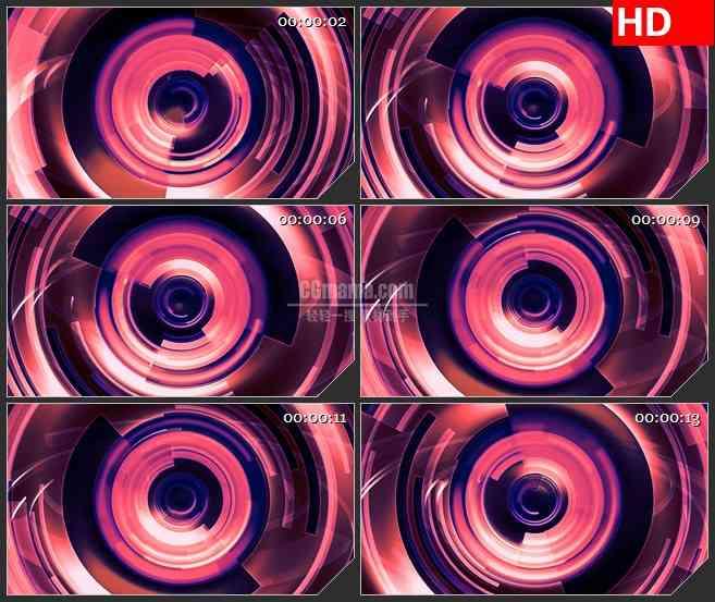 BG0918-红色旋转转圈高清led晚会高清视频背景素材