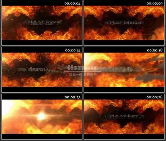 AE1858-火焰背景文本展示