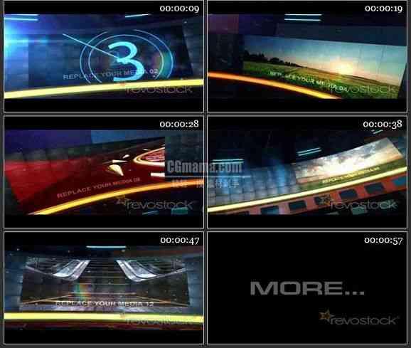 AE1865-圆弧大屏幕旋转视频展示