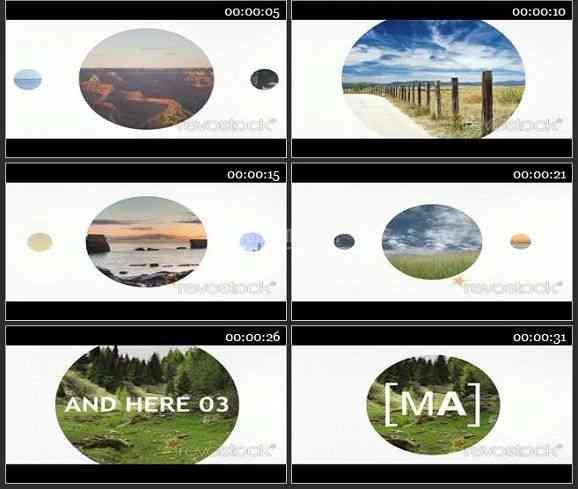 AE1885-有趣的圆形遮罩动画 图片展示
