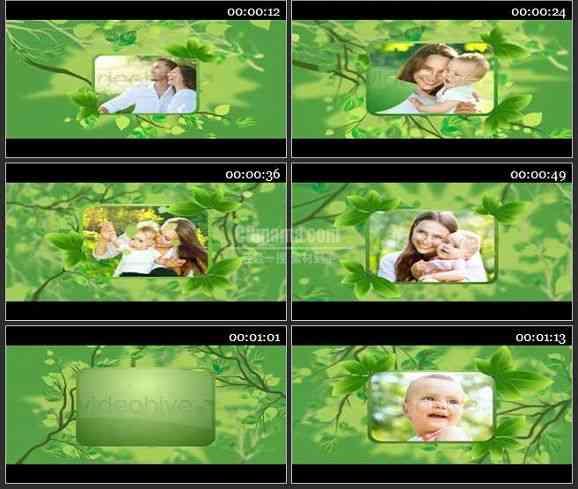 AE1929-生态环保风格视频图片展示