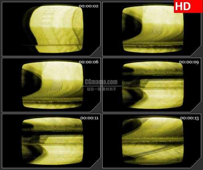 BG0927-VCR屏幕黄色燥波动态LED高清视频素材