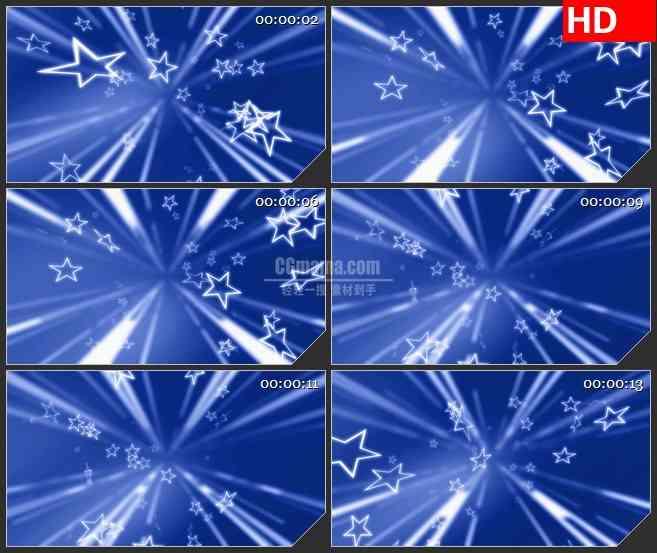 BG0936-白色星星白色光线光斑蓝色背景LED背景高清视频素材