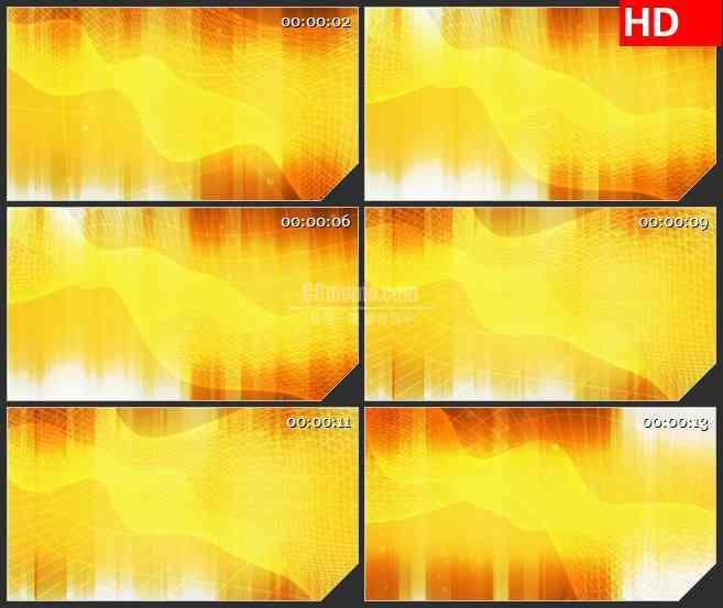 BG0943-编织网金黄色网格动态LED背景高清视频素材