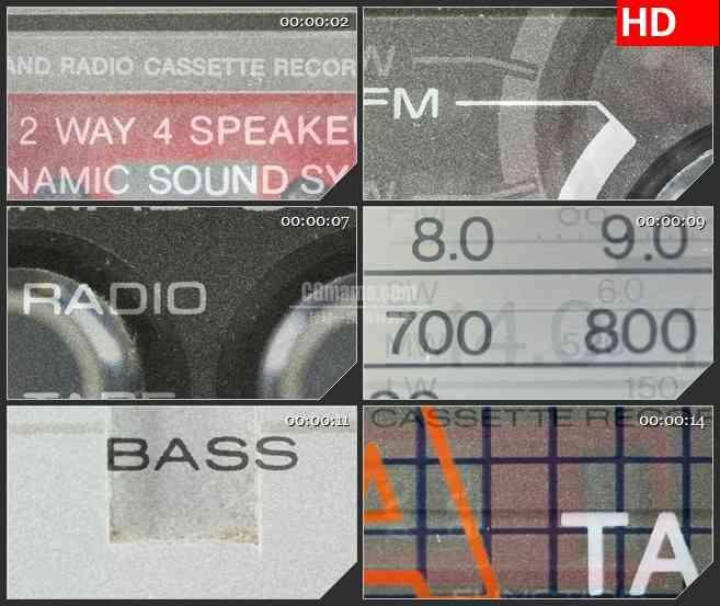 BG0946-变焦录音机零件快切LED动态背景高清实拍视频素材