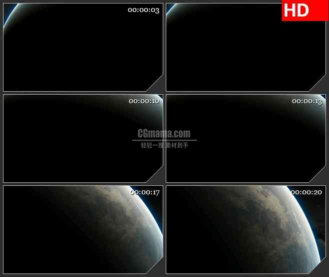 BG0955-地球大特写光环三维动画高清视频素材