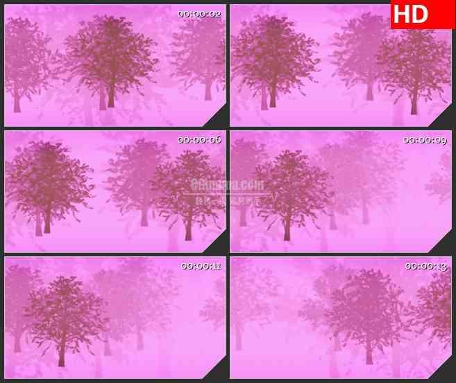 BG0956-冬天的树粉红动态LED背景高清视频素材