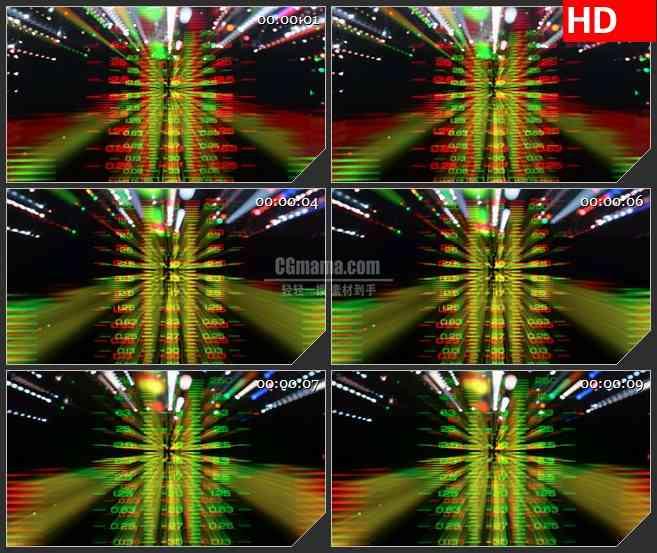 BG0962-光频谱分析仪辉光变换动态LED高清视频素材