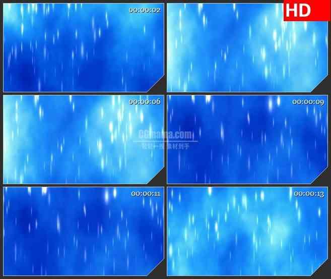 BG1000-蓝色背景白色光效下雨高清led大屏视频背景素材