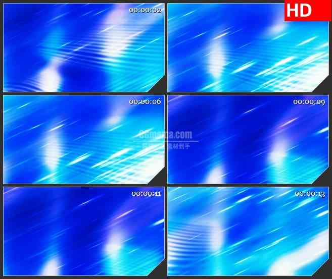 BG1005-蓝色水波纹亮白色光斑光束动态LED高清背景素材