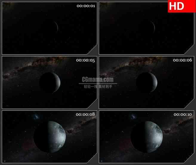 BG1055-太空宇宙冥王星星空LED三维动画高清视频素材
