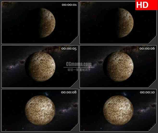 BG1059-土星木星宇宙小行星旋转三维动画LED高清视频背景素材