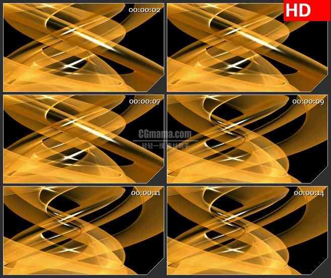 BG1060-蜿蜒的橙色橙光高清led大屏背景视频素材