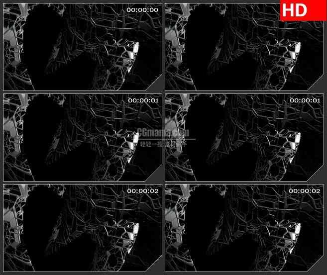 BG1065-蜿蜒旋转铁网LED背景高清视频素材