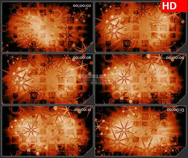 BG1069-温暖的复古星星的形状高清led大屏背景视频素材
