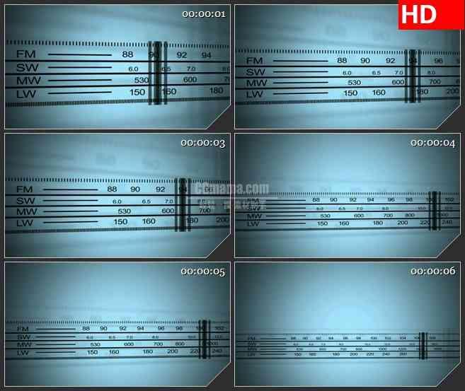 BG1071-无线电扫描仪指针移动LED高清视频素材