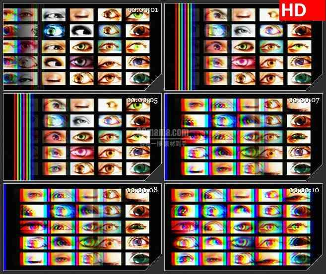 BG1078-整屏的眼睛高清led大屏视频背景素材