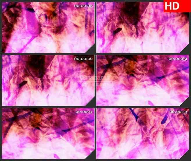 BG1079-皱纹纸的粉红色旋转动态LED背景高清视频素材