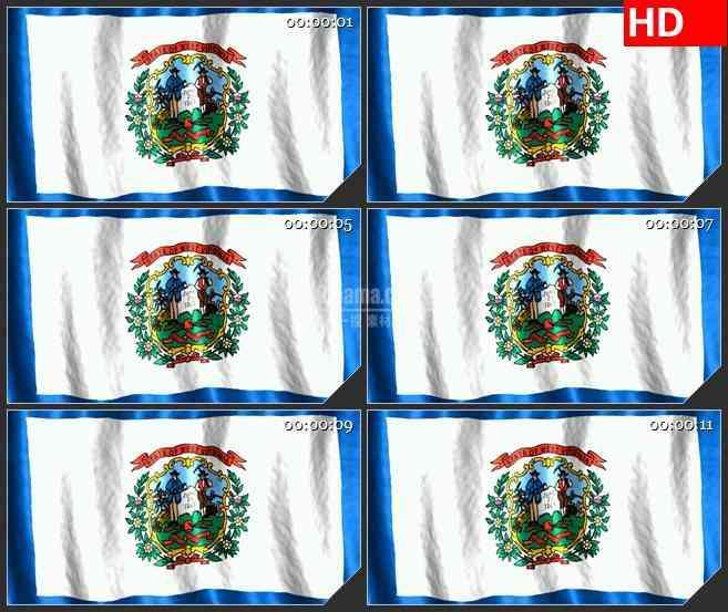 BG1097-西弗吉尼亚州的旗帜飘动三维动画高清背景素材