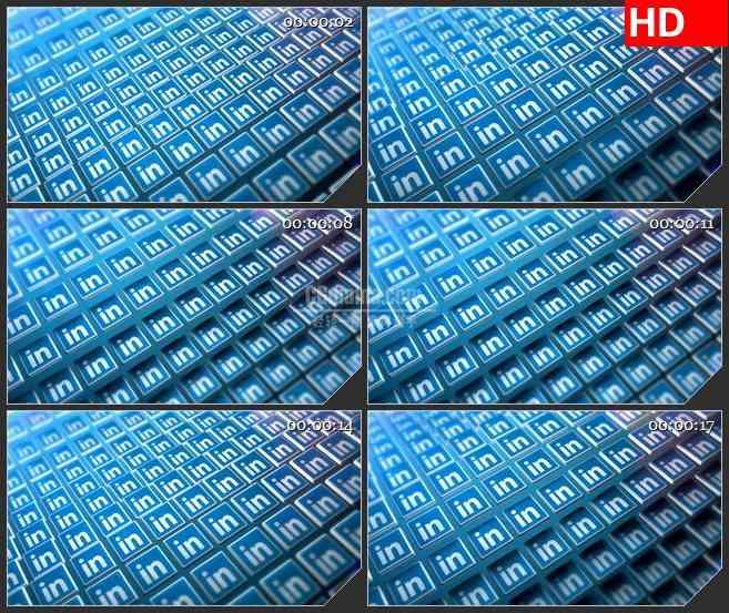 BG1104-IN立体图标波浪动态LED高清视频背景素材.