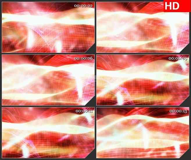 BG1115-波浪毯运动红色背景动态LED高清视频背景素材