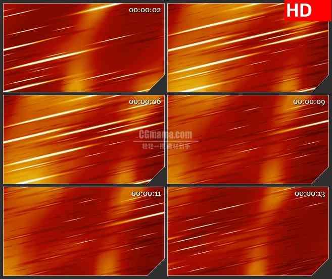 BG1120-橙红色背景白色光线斜线动态LED高清视频背景素材