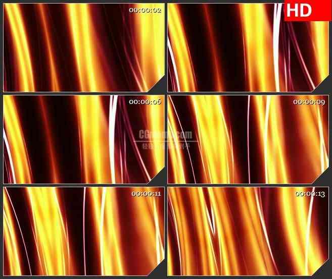 BG1122-橙红色波浪形霓虹灯光线动态LED高清视频背景素材