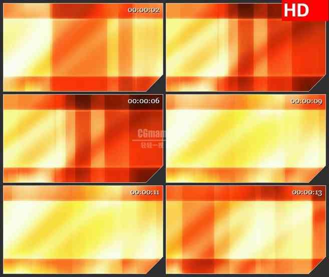 BG1125-橙红色光条光线写字板动态LED高清视频背景素材