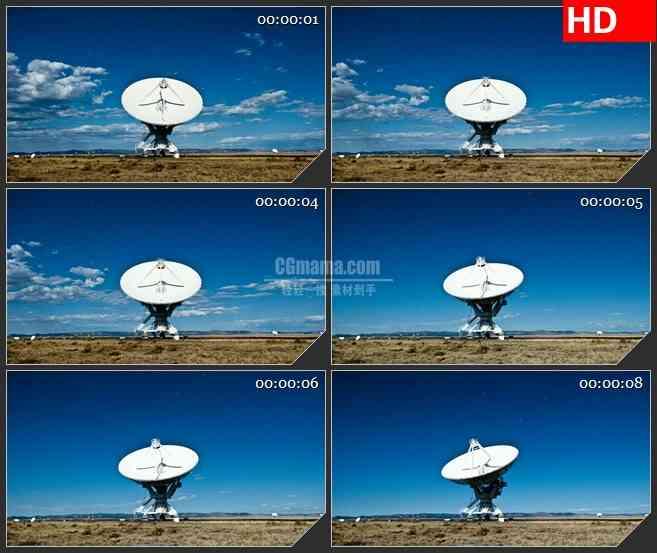 BG1133-充满活力的天空卫星天线蓝天白云动态LED高清视频背景素材