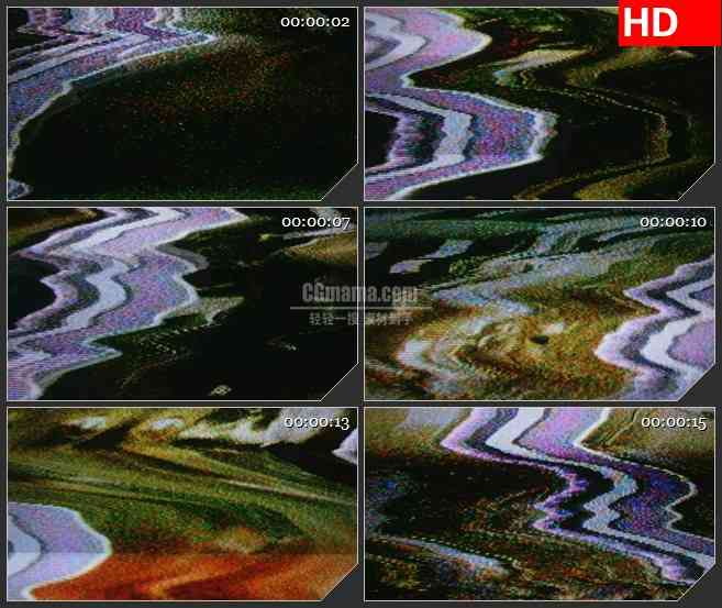 BG1139-电视屏幕干扰燥波动态LED高清视频背景素材