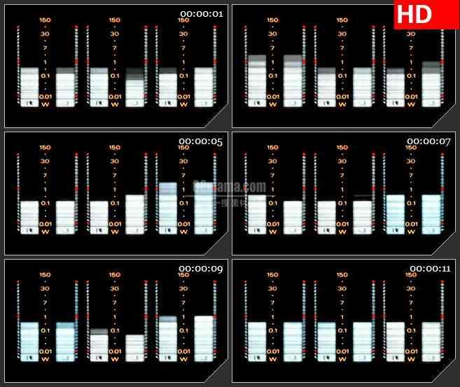BG1158-广播收音机音量条跳动动态LED高清视频背景素材.